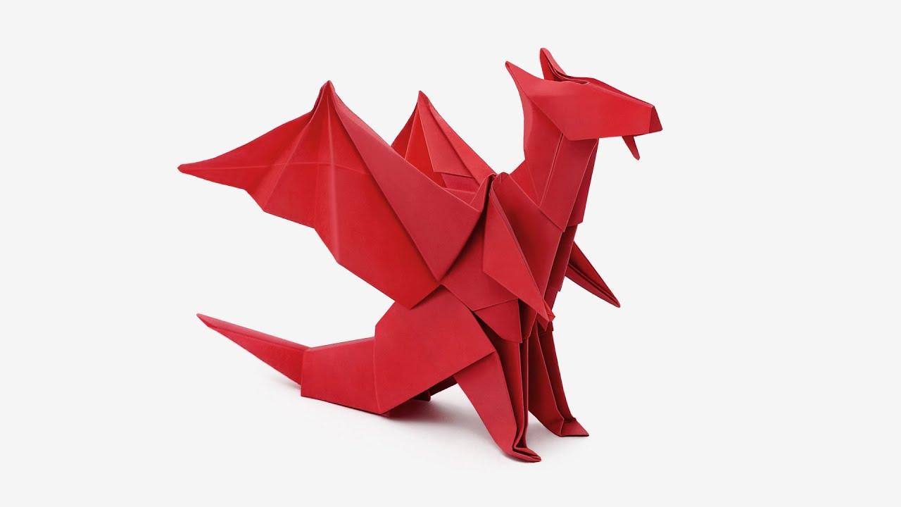 origami 3d dragon instructions