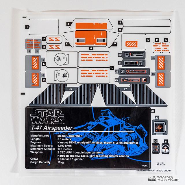 lego snowspeeder instructions 75144
