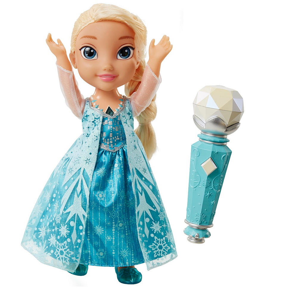 sing along elsa doll with microphone instructions