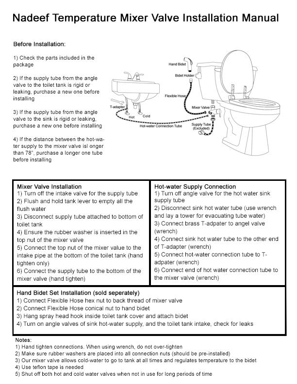 hansa shower mixer installation instructions