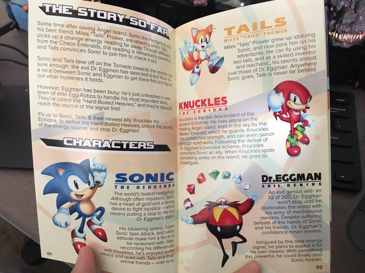 sonic mania instruction manual