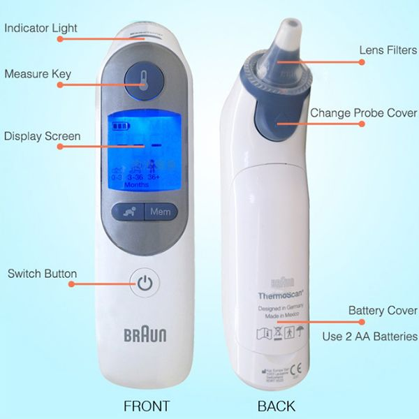 braun ear thermometer instructions