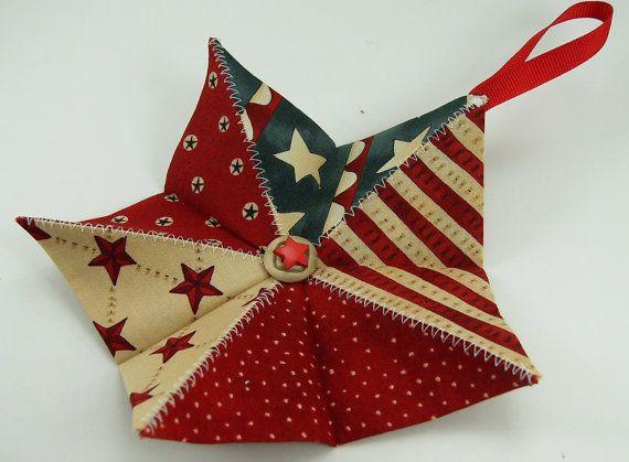 folded fabric stars instructions