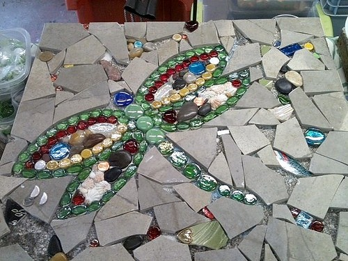glass on glass mosaic instructions