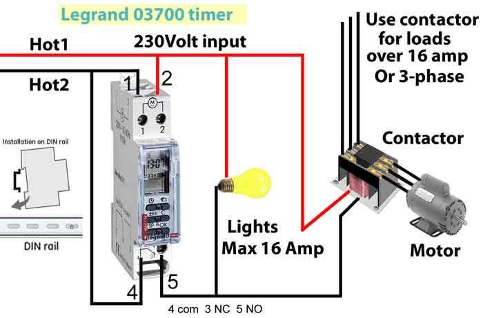 legrand 03700 timer instruction manual