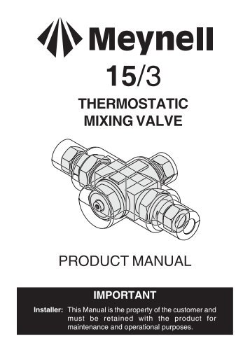 tomson tempering valve instructions
