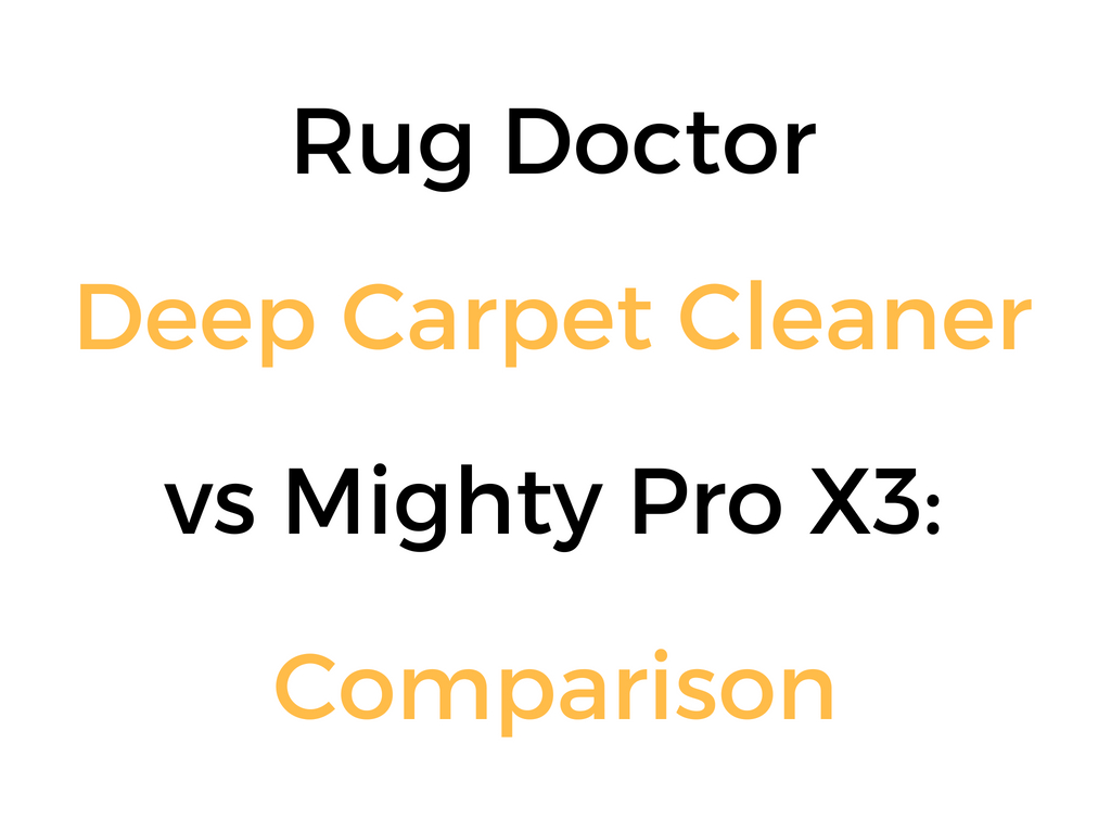 rug doctor pro instructions