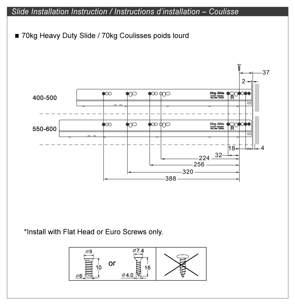 drawer slide installation instructions