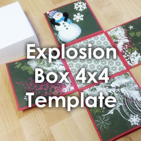 explosion box template instructions