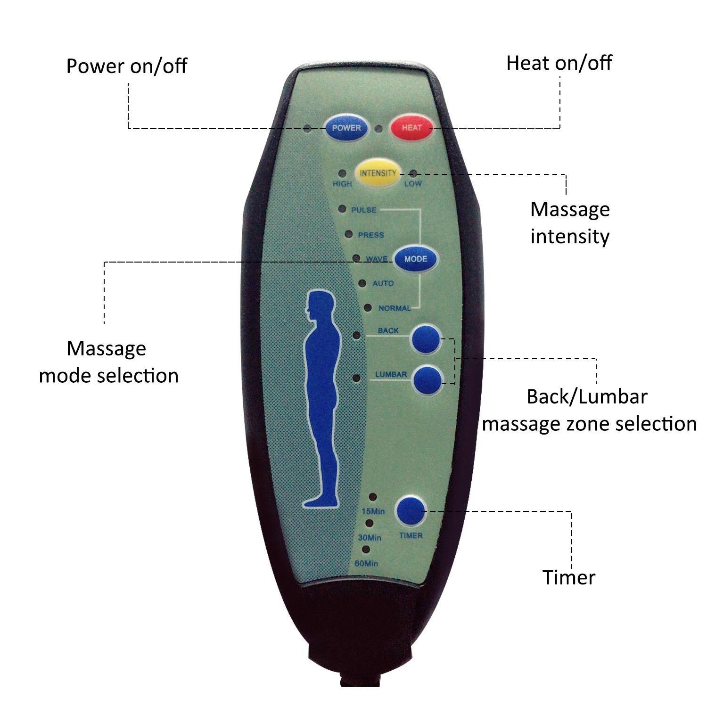 homcom massage chair instructions