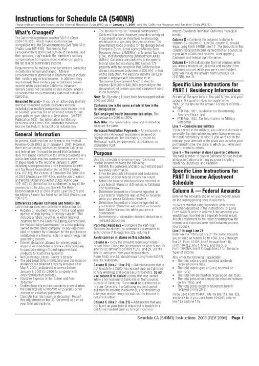 schedule ca 540 instructions 2016