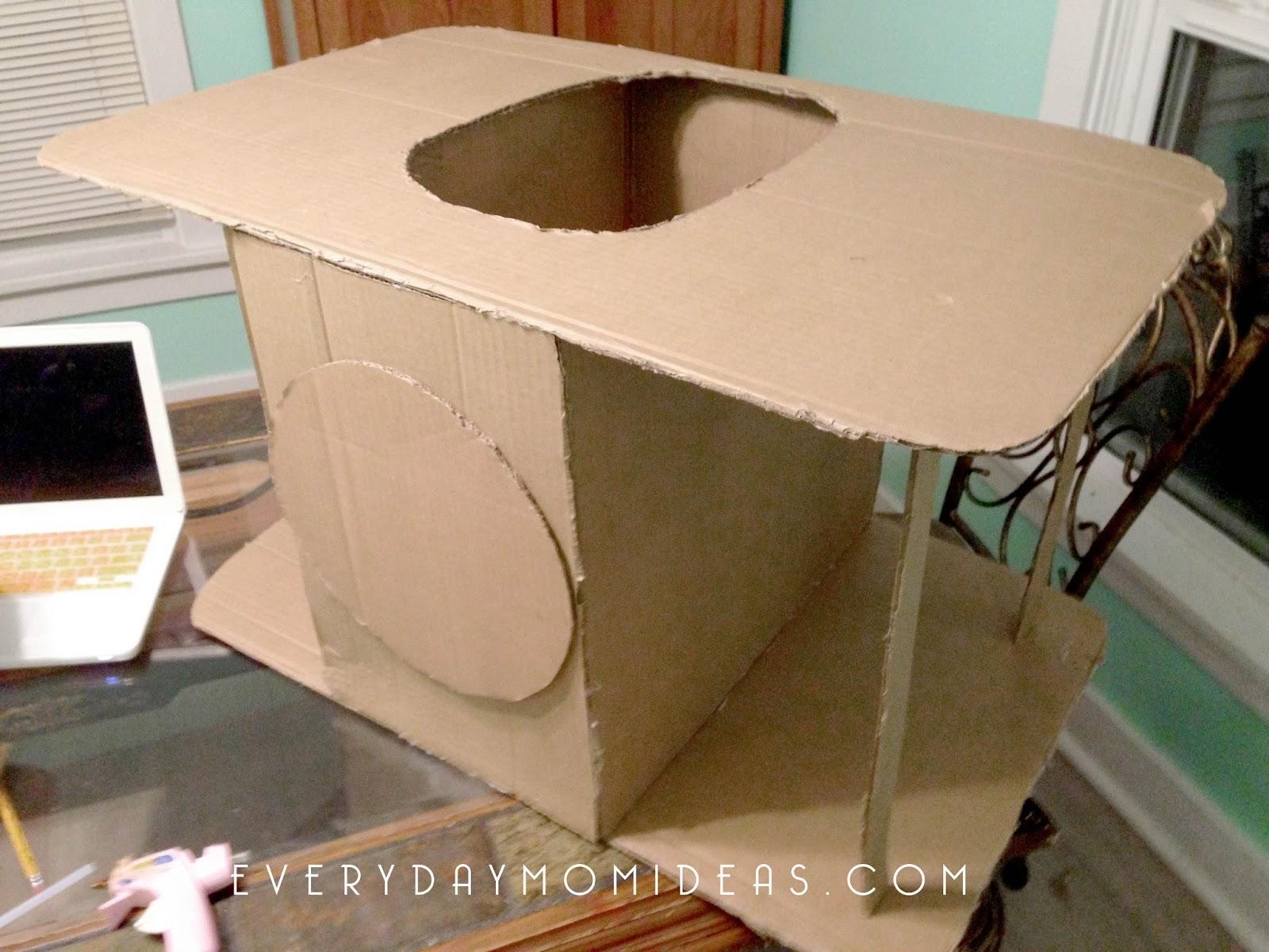 cardboard car costume instructions