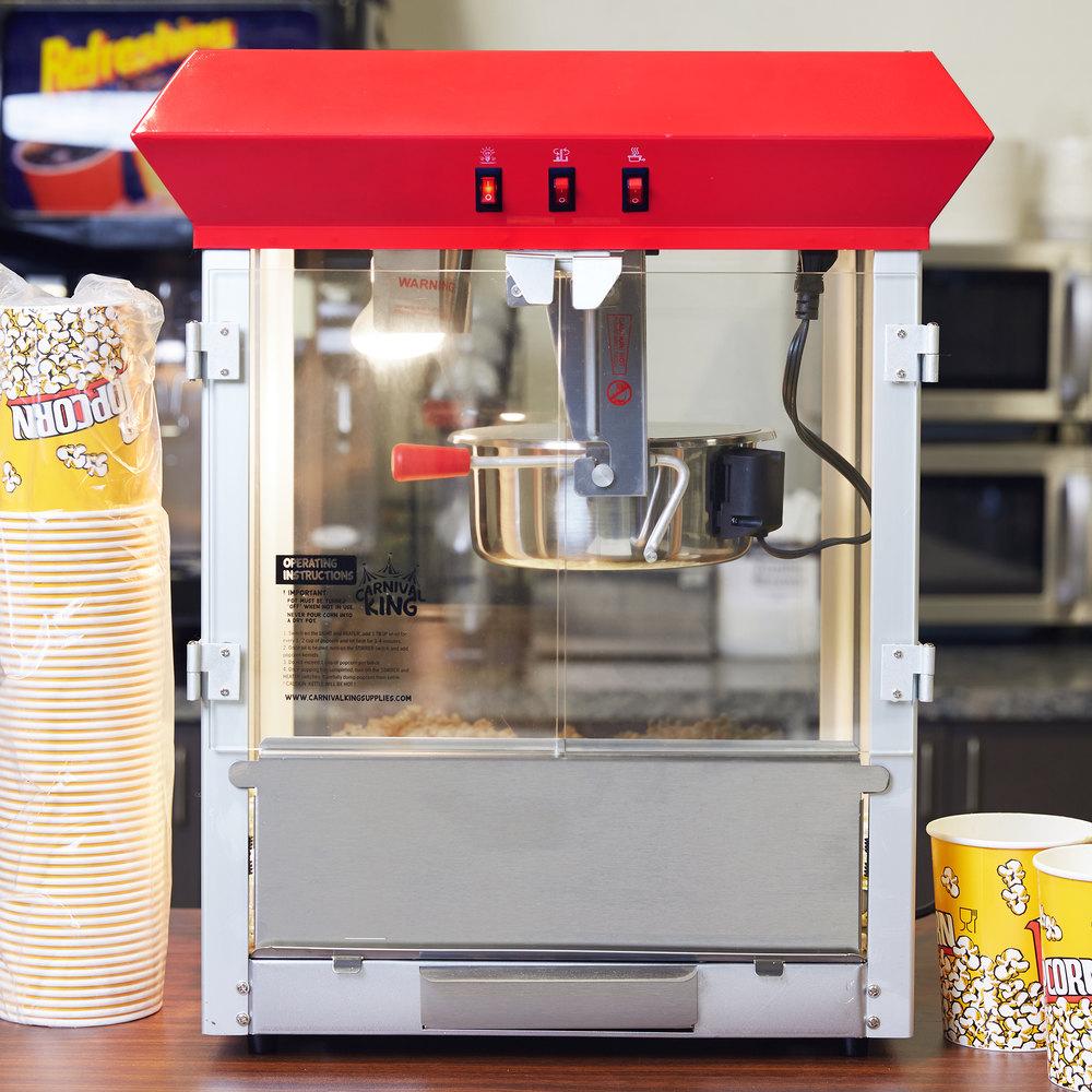 8 oz popcorn machine instructions