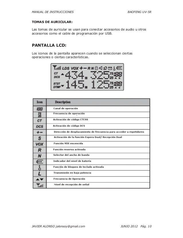 baofeng uv 5r instruction manual