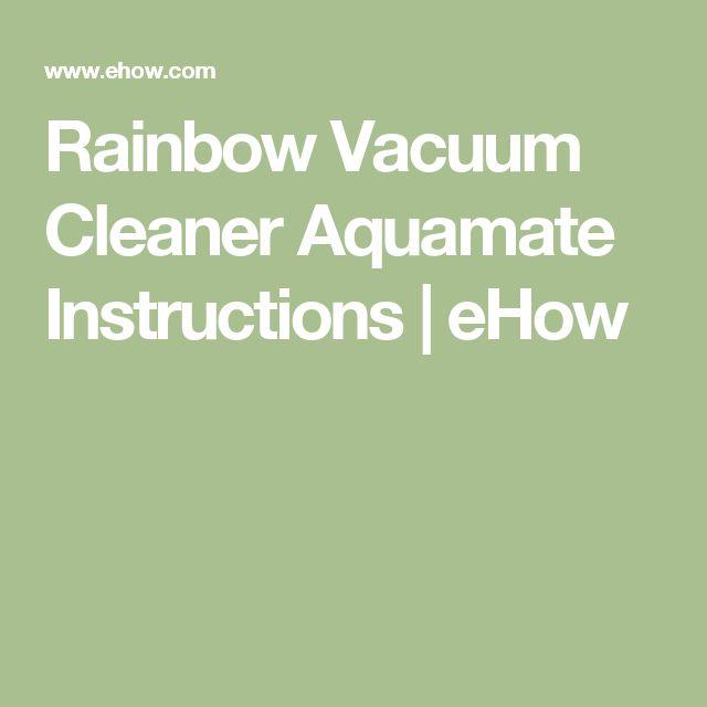 rainbow se aquamate instructions