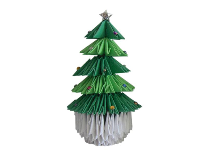 origami christmas tree instructions