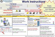 work instruction template pdf