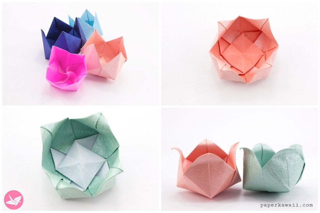 origami magic rose cube step by step instructions