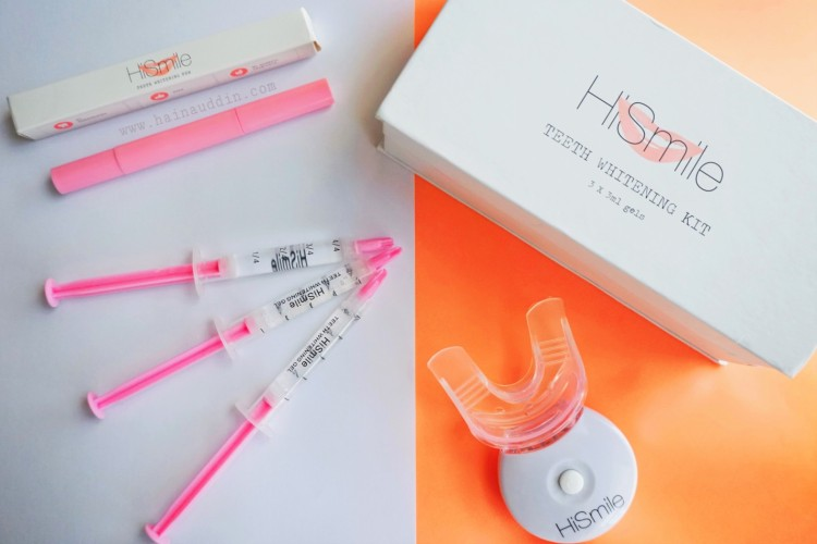 hismile teeth whitening kit instructions