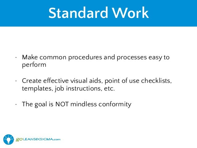 how to write standard work instructions