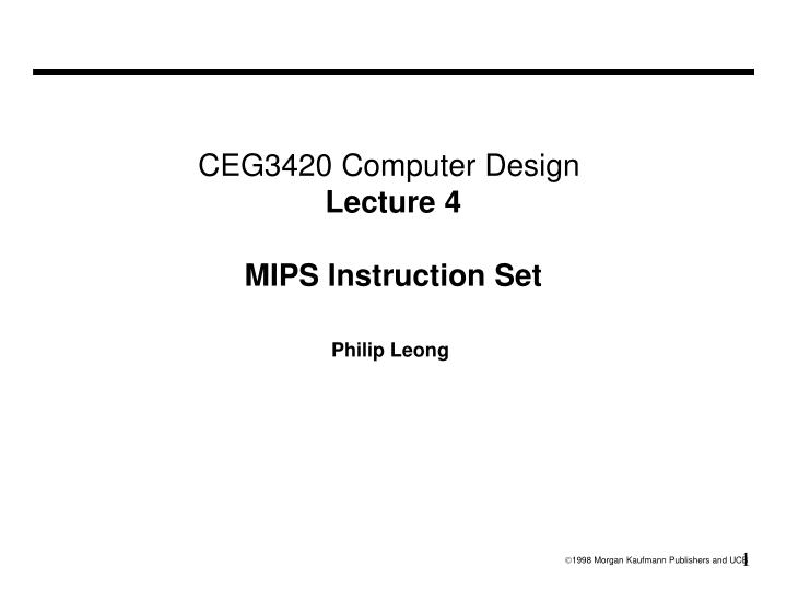 instruction set architecture ppt