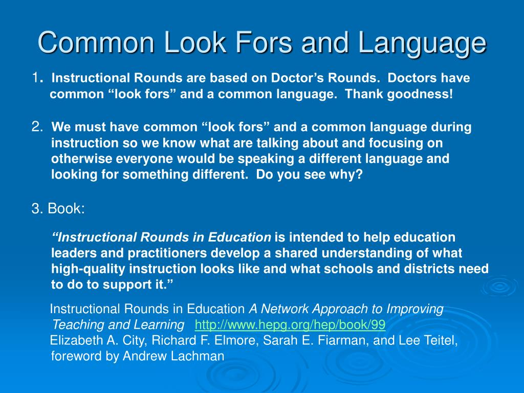 instructional rounds in education book