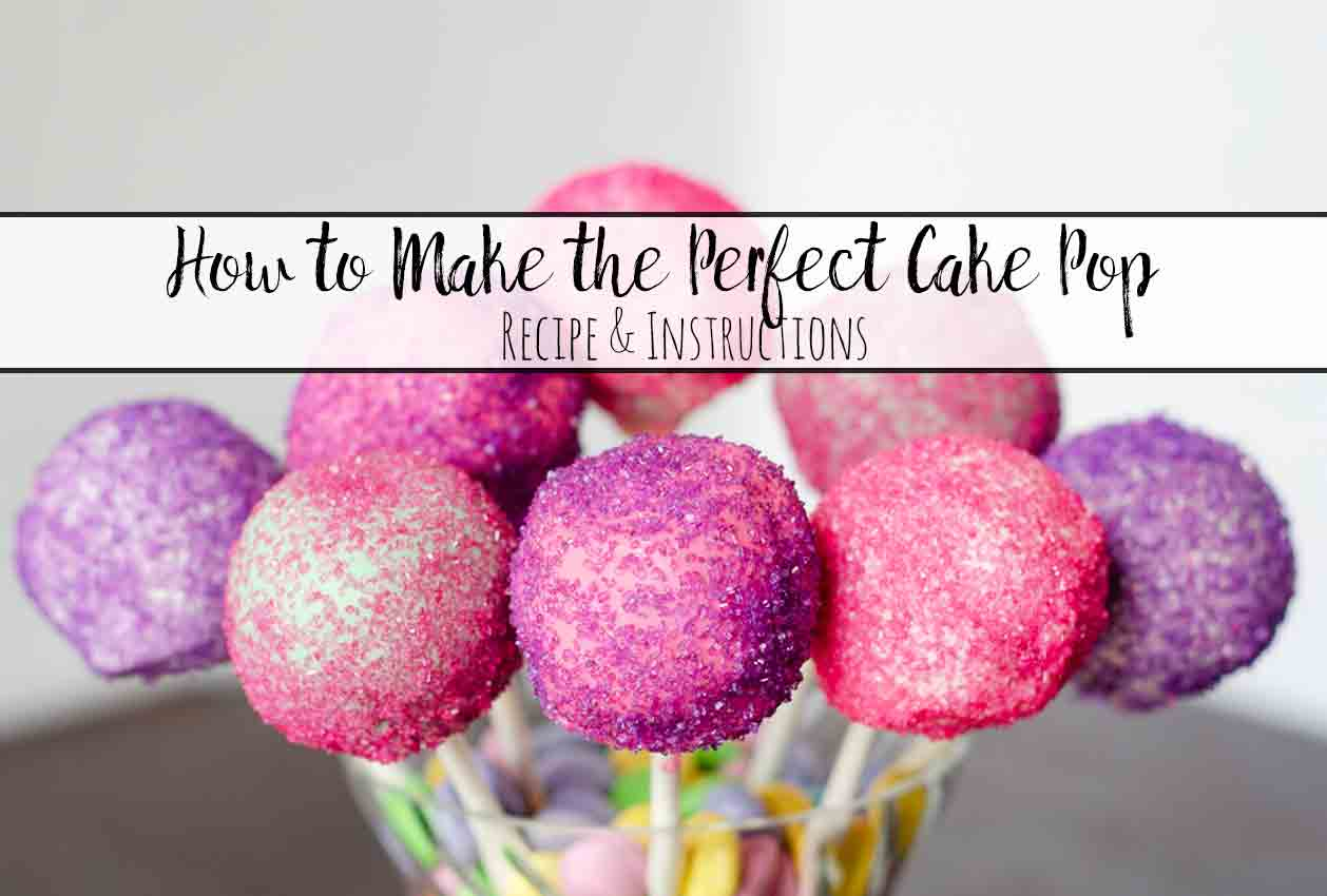 instructions on how to make cake pops