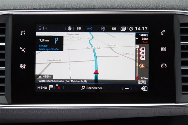 new peugeot 308 sat nav instructions