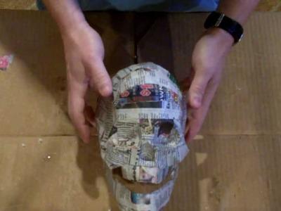 paper mache skull instructions
