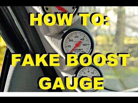 turbo boost gauge install instructions