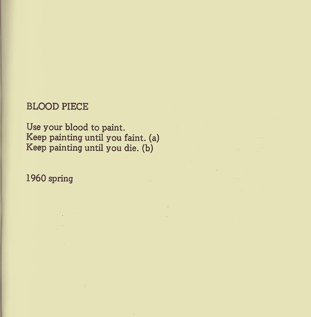 yoko ono instruction paintings